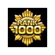 モンストランク1000達成アイコン